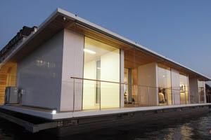 port x modulares wohnen auf land und wasser energieleben. Black Bedroom Furniture Sets. Home Design Ideas