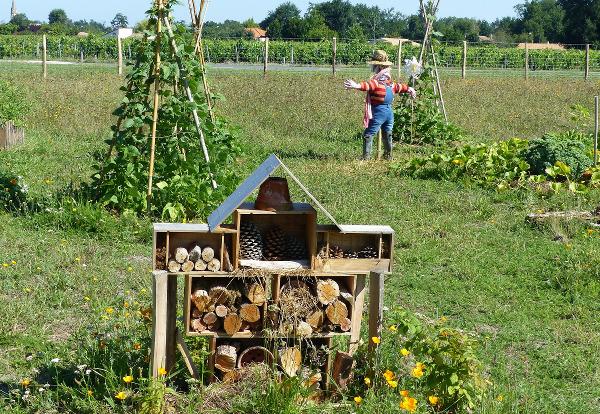 Garten mit Insektenhotel